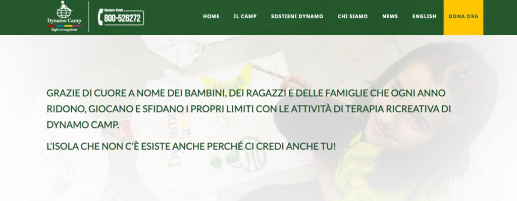 Donazione Dynamo Camp